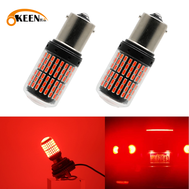 1PCS Led Light Bulbs 3014 144smd CanBus S25 1156 BA15S P21W LED BAY15D BAU15S PY21W T20 LED 7440 W21W W21/5W Turn Signal Light