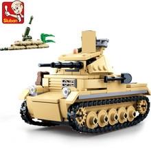 цена 356Pcs Military World War 2 WW2 Panzer II Tank Building Blocks Soldiers Figures Kids Toys LegoINGLs ARMY Bricks Christmas Gifts онлайн в 2017 году