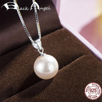 Limited Time Promotion Authentic 925 Sterling Silver Round 10mm Freshwater Pearl Pendant Fit Women Necklace DIY Jewelry