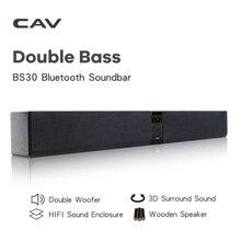 CAV BS30 Soundbar z Bluetooth kolumna podwójny Subwoofer głośnik kina domowego nagłośnienie przestrzenny powiesić ściany wbudowany 3D Stereo