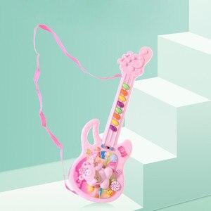 Image 3 - Elektro gitar oyuncak müzikal oyun çocuk Boy kız yürümeye başlayan öğrenme elektron oyuncak