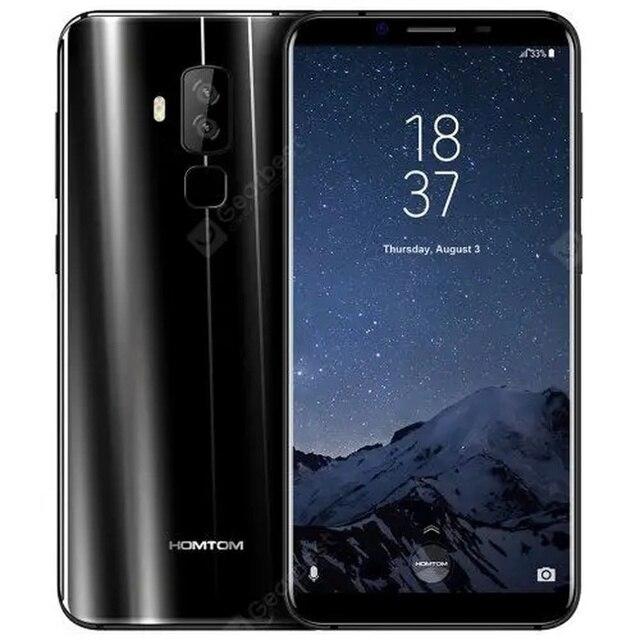 """الهاتف الذكي HOMTOM S8 ذاكرة الوصول العشوائي 4GB RAM 64GB ROM 5.7 """"HD MTK6750T ثماني النواة كاميرا خلفية مزدوجة 16MP + 5MP بصمة 3400mAh الهاتف المحمول"""