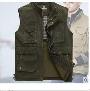 The classic 2020 high quality pure cotton vest Spring and summer leisure Many pocke photography vest men director coat