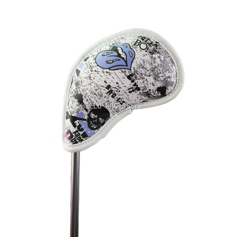 10 шт. клюшка для гольфа с рисунком «Флаг Великобритании Череп с номером теги Толстый PU искусственная кожа железная крышка головного убора