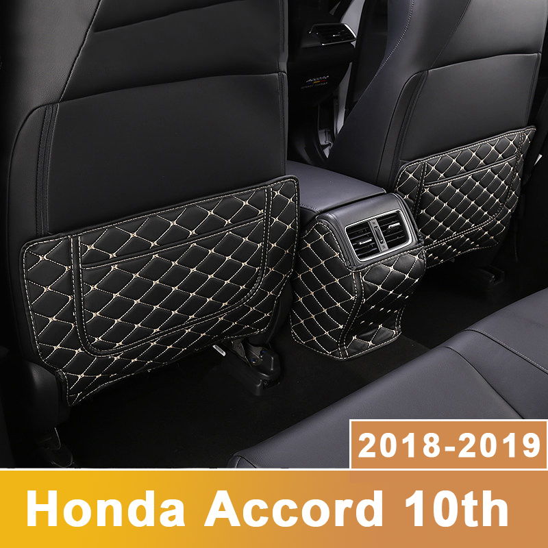 Car Seat Covers Protectors Care Seat Back Anti-kick Pad Case for children Kick Mats For <font><b>Honda</b></font> <font><b>Accord</b></font> 10th <font><b>2018</b></font> 2019 <font><b>Accessories</b></font> image
