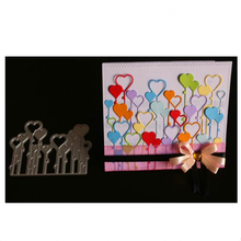 Yinise Love Balloons Metal Cutting Dies For Scrapbooking Stencils DIY Album Cards Decoration Embossing Folder Die Cuts Tools
