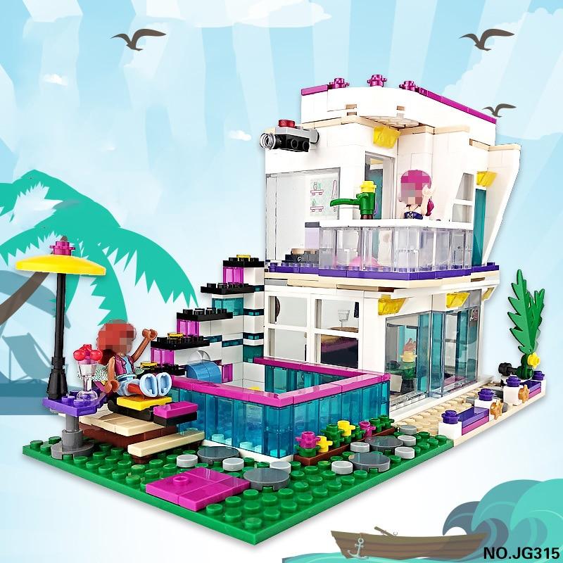 JG312 656Pcs Movie Series Dream Castle Building Block Brick Educational Toys For Children Compatible Girl Friends 25014