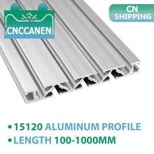 Extrusión de perfil de aluminio 15120, longitud de 100mm a 1000mm, riel guía anodizado de 15x120mm para piezas CNC de banco de trabajo de impresora 3D DIY