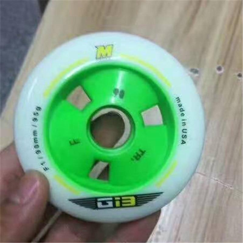 8 Pcs Gi3 F1 90mm 100mm 110mm Inline Speed Skates Wheel 608 Bearing 24mm Thickness Race PU MATTER Skating Green Yellow Pink G13