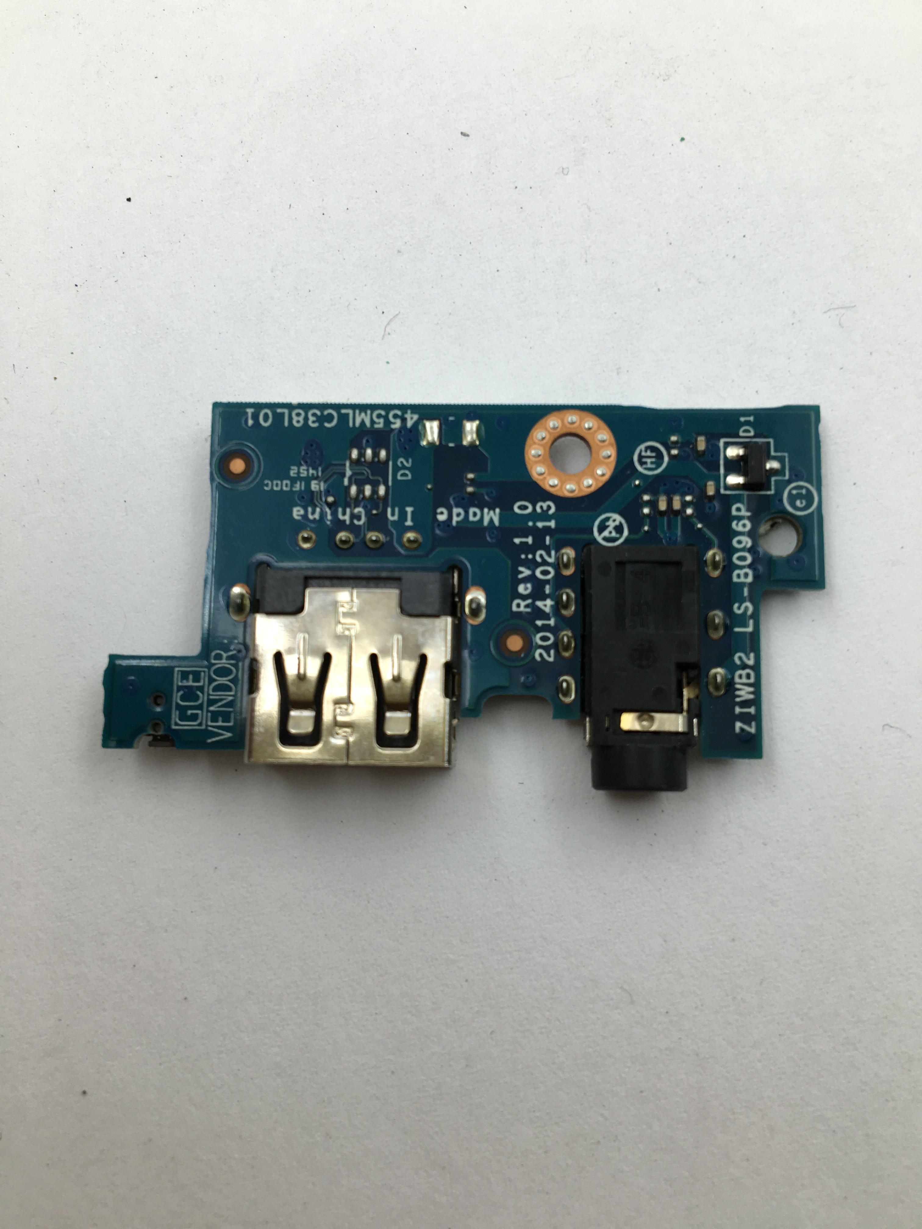 Free Shipping Genuine For Lenovo B40 B40 45 B40 70 305 B50 30 B50 45 B50 70 B50 75 USB Audio Board ZIWB2 LS B096P WORKS