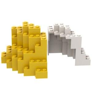 BuildMOC 23996 8x8x6 Ore Rock Mountain Wall City Wall Components For Building Blocks Parts DIY Edu