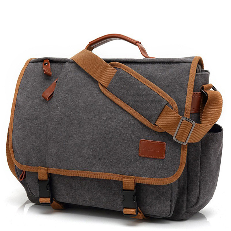 Vintage Canvas Briefcase Men Laptop Suitcase Travel Handbag Men Business Tote Bags Male Messenger Bags Shoulder Bag 2020 XA200ZC