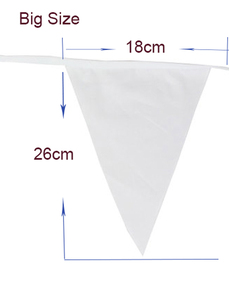 Image 5 - 80M 200 Flags Silk Bunting Festive&Party Decoration Garden Wedding Supplies,Romantic White Christmas Party flags And Banners