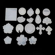 17Pcs Flower Cross Round Teadrop Bird Jewelry Pendant Mold Making Tools