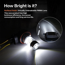 Vehemo противотуманная фара H7/H11/1156/1157/7440 100 Вт светодиодный противотуманных фар автомобиля вождения авто лампы фар супер яркий