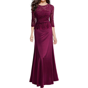 Evening Dresses Long Elegant Navy Blue Long Sleeve Little Mermaid Lace Winter Formal Evening Gowns Burgundy new fashion burgundy long lace evening dresses mermaid sequin long sleeve formal evening gowns free shipping robe de soiree