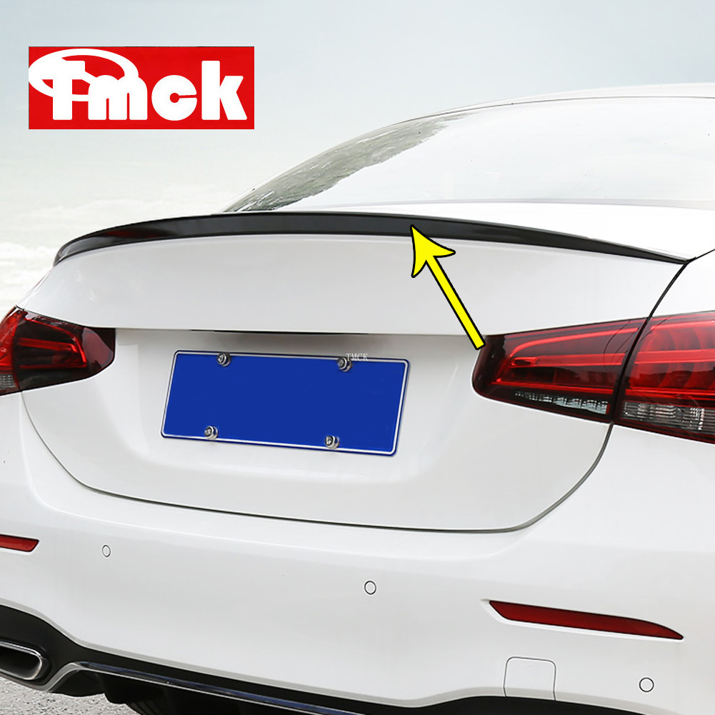 For Mercedes Benz A Class W177 V177 A180 A200 A220 A250 2019+ Car Trunk Tailplane Calming Wind Disturbed Flow Sticker Accessory image