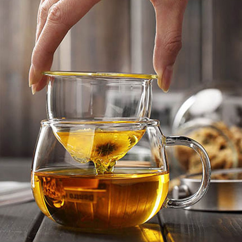 Стеклянная чайная чашка 350 мл напитки чайная утварь домашний кофе чайник термостойкая вода Ресторан ситечко фруктовый сок кухонный чай чашка