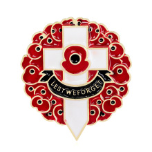 Opium poppy cross brooch is popular in foreign trade and new accessories Danrun ornaments