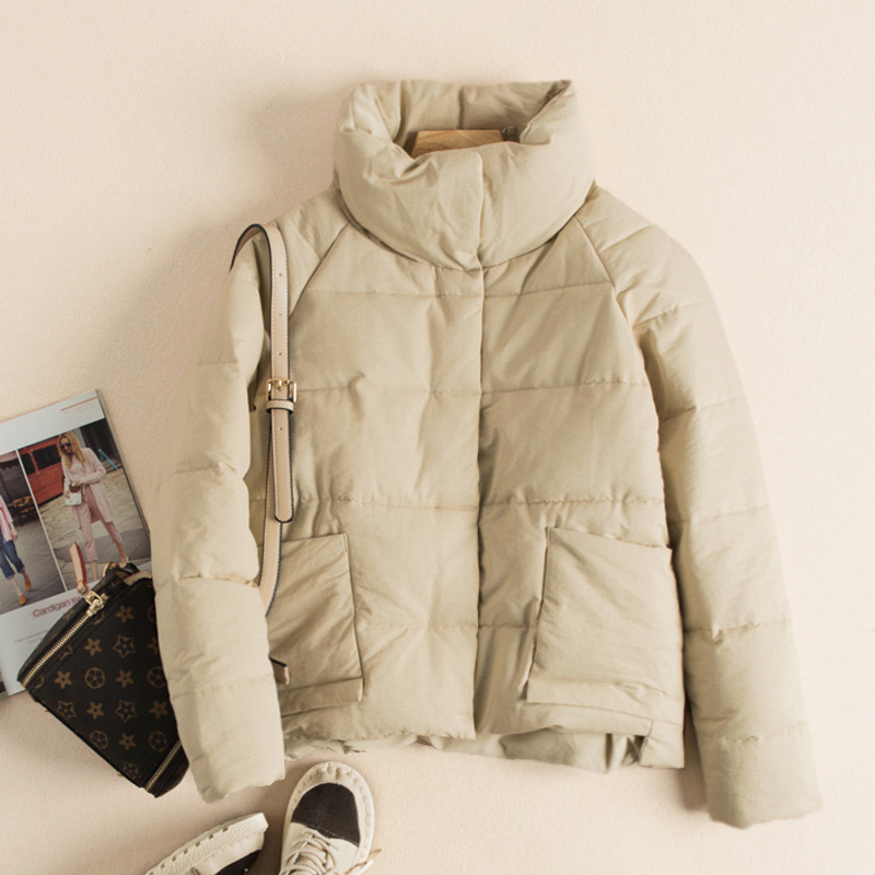 Short Cotton-padded Clothes Stand Collar Students Women's 2019 Winter New Style Versatile Thick Warm Cotton-padded Jacket Cotton