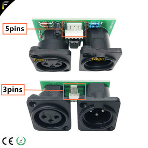 Image 2 - 2pcs 7R/5R 200/230 DMX512 Signal Connect Board Part Little PCB 3pin XLR DMX Connector with Chip Board Repair Replacement
