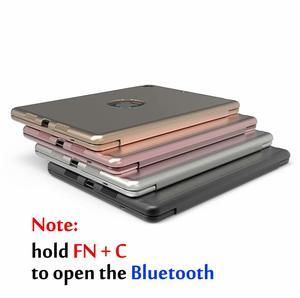 Image 5 - Pokrowiec na iPad Air 3 10.5 2019 Smart Sleep 7 kolorów podświetlany lekki bezprzewodowy pokrowiec na klawiaturę Bluetooth do ipada Pro 10.5