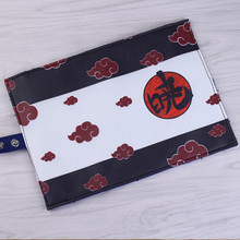 Naruto Pencil Bag Roll Up Pouch Draagbare Akatsuki Etui Briefpapier Houder Organizer School Studie Levert voor Jongens Gaven(China)