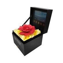 Flores especiais caixa de vídeo player 4.3 polegada universal cartão assistindo livreto para publicidade presente casamento aniversário