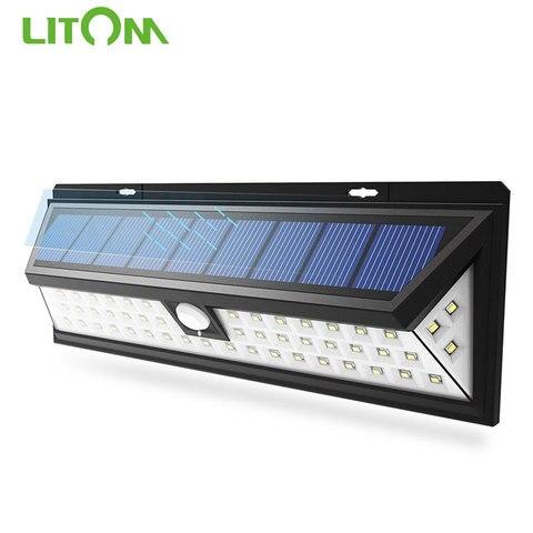 ip65 a prova dwaterproof agua solar lampadas 54 led luzes solares ao ar livre com