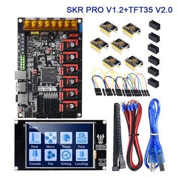 BIGTREETECH SKR PRO V1.2 Control Board TFT35 Touch Screen + 6PCS TMC2209 TMC2208 UART 3D Printer Parts VS SKR V1.3 MKS GEN L 3d printer controller board mks gen l v1 0 compatible with ramps1 4 mks gen l support a4988 drv8825 tmc2100 lv8729