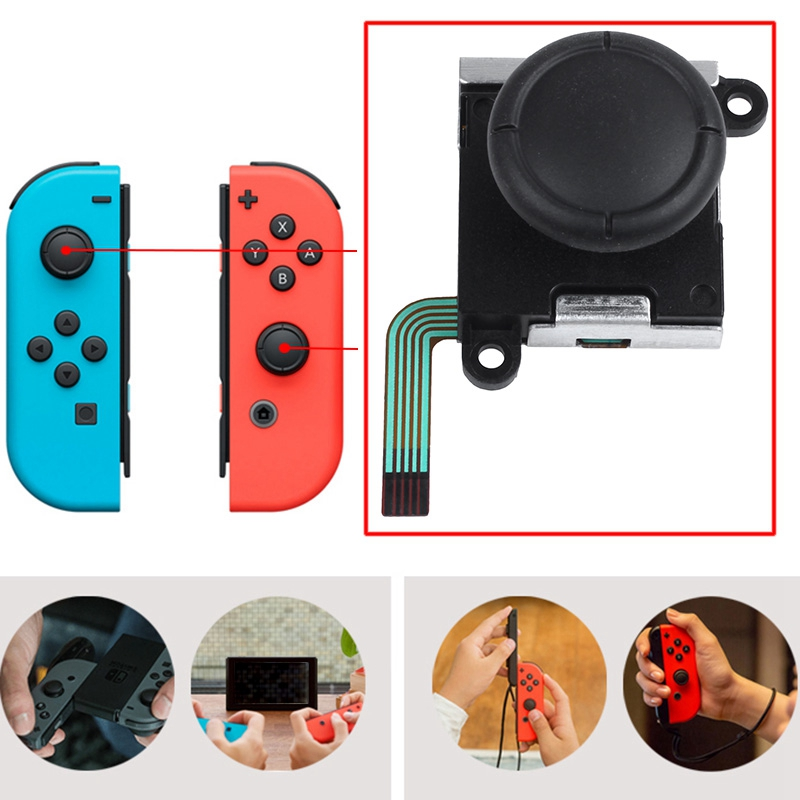 3D Analog Joystick Thumb Sticks Sensor Replacements For Nintendo Switch Joy Con Controller