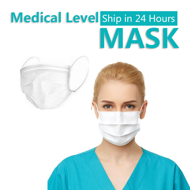 Profession 3-Ply Disposable Mask Nonwoven Masks PM2.5 Anti-Dust Face Masks Elastic rope Soft Breathable Flu Hygiene Safety Masks 2