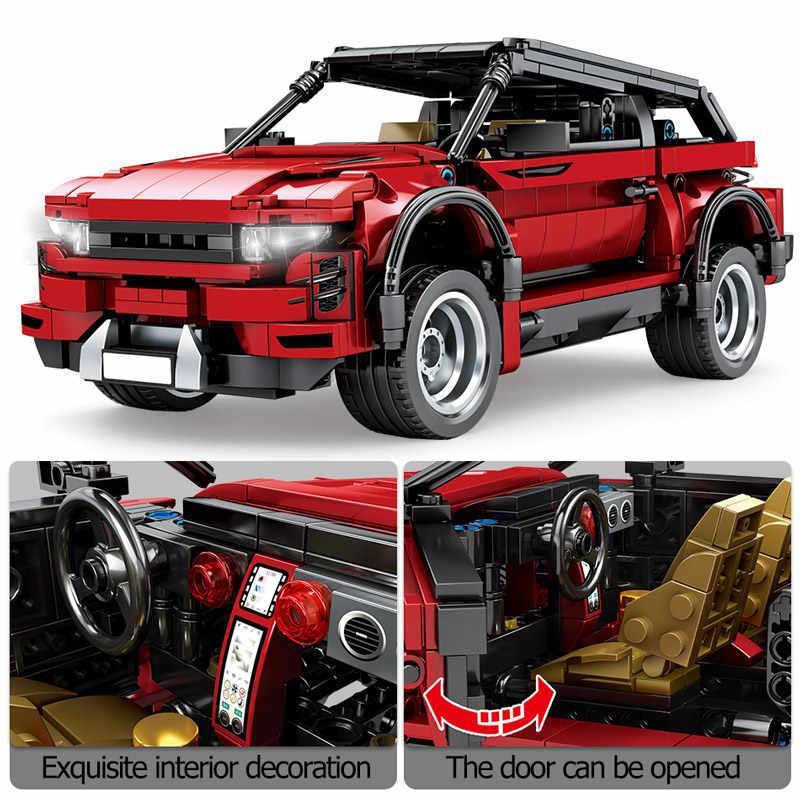 625pcs Creatore Off-road Veicoli SUV Blocchi di Costruzione Technic Città Auto Da Corsa SEMBO MOC Mattoni Modello Giocattoli Educativi per I Bambini