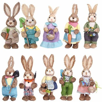 Easter Rabbit Decorations for Home Cute Rabbit Figurines Miniature Tabletop Ornaments Fairy Garden european angel ornaments living room decorations ornaments cute angel for home decoration accessories fairy garden miniatures