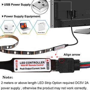 Image 4 - USB LED أضواء للمطبخ تحت خزائن RGB LED قطاع تيار مستمر 5 فولت SMD 5050 TV إضاءة خلفية خزانة خزانة مصباح مع البعيد