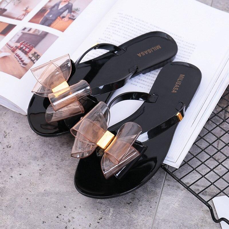 Summer Flip Flops Women Bow Slippers Non-slip Slides Indoor Outdoor Beach Slide Sandals Women Ladies Girls Fashion Shoes