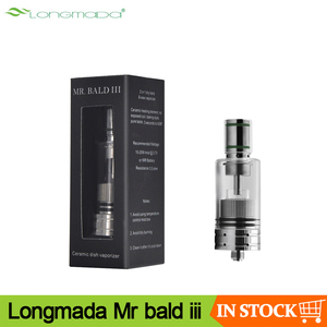 Image 1 - Original Longmada Mr bald iii III 510 atomizer tank For Wax Dry Herb Vape Pen Ceramic Heating Coil Chamber for mech mod