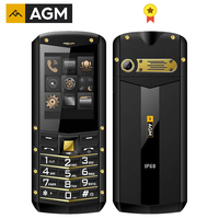 AGM M2 Russian Language Only 2.4 Rugged Phone Dual SIM Rear 0.3MP Outdoor Phone IP68 Waterproof Shockproof Flashlight 1970mAh