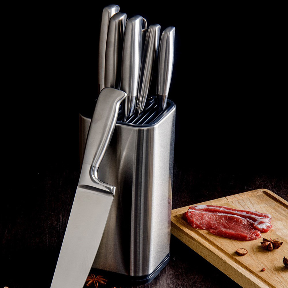 6 Inches Stainless Steel Knives Rack Cutter Holder Multifunctional Kitchen Storage Rack Cutter Rest Knives Blocks