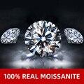 NYMPH 100% Echt Lose Edelsteine Moissanite 1ct 6,5mm D Farbe Stein Runde Ring Edlen Schmuck Mit GRA Zertifikat