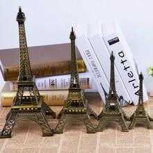 5-13cm Bronze Paris Tower Metal Crafts Figurine Statue Model Home Decor Souvenir Model kids Toys For Children