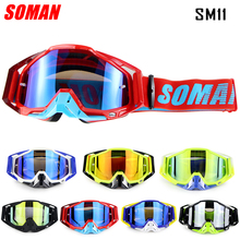 SOMAN Motorcycle Goggles Dirt Bike Helmet Goggle Glasses Oculos Motorbiker Lunette Helmets SM11