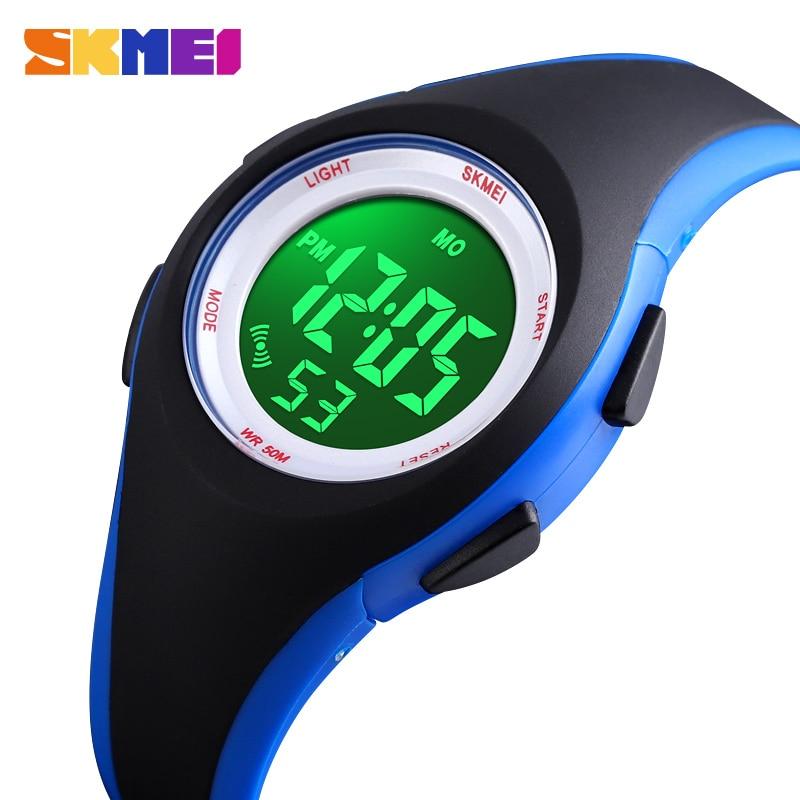 SKMEI Children Wristwatches Kids LCD Digital Watch Alarm Calendar 5Bar Waterproof Boys Girls Sport Watches Montre Pour Enfants