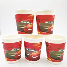 6pcs/bag Lightning Mcqueen Party Decoration Disposable Tableware Paper Cups Mcqueen Cartoon Pattern Kids Party Supplies(China)