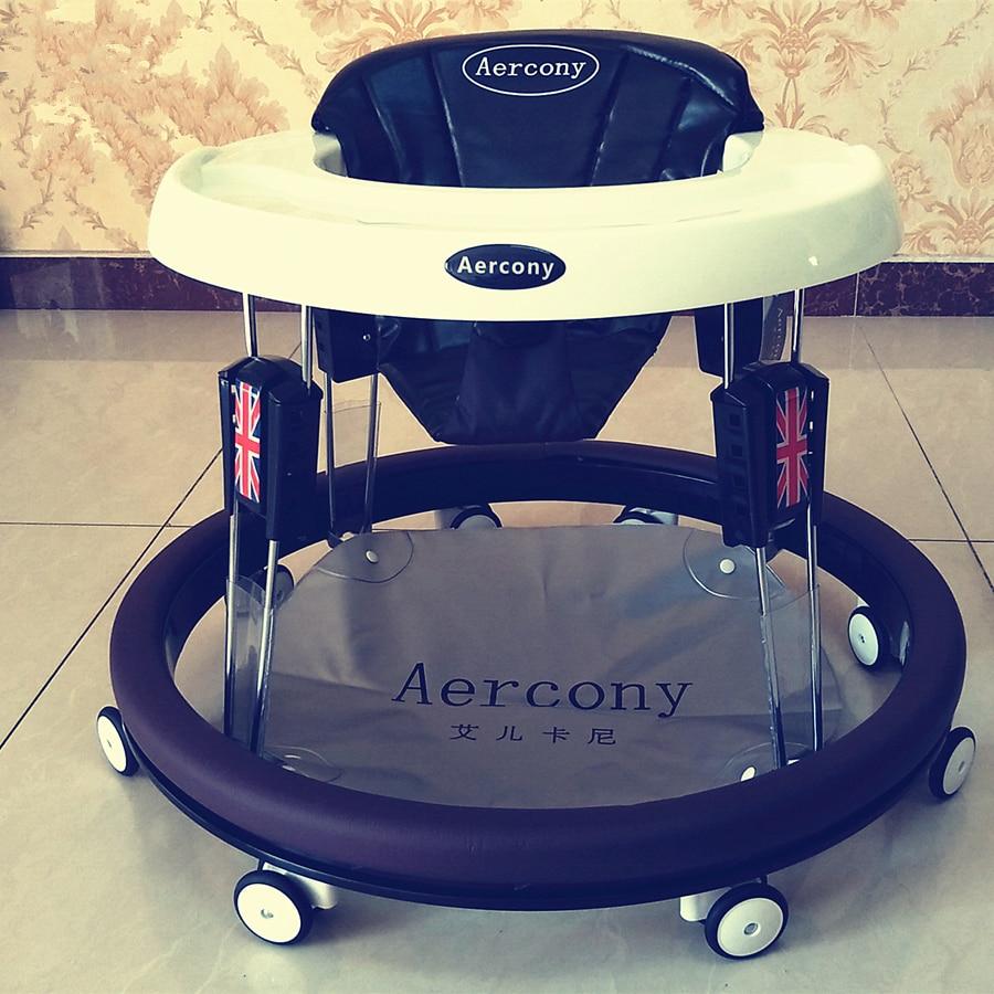 826 Baby Walker Anti-O Type Leg Baby Walker Multi-functional Anti-Flip Folding Mute Big Wheel Baby Walker Cart