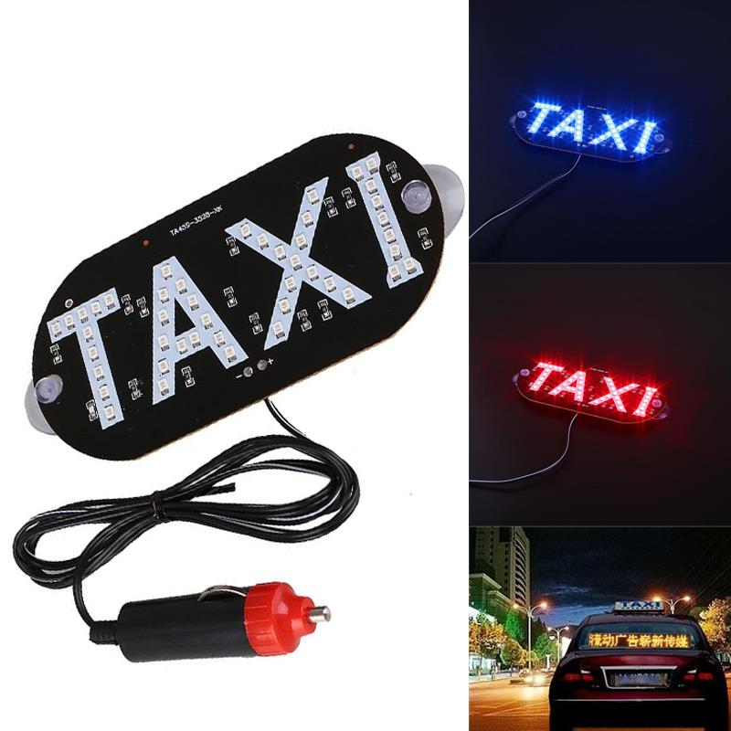 Newest Taxi Led Cab Indicator Lamp Sign Blue LED Windshield Taxi Light Lamp