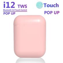 TWS Macaron Multicolor i12 słuchawki bezprzewodowe Bluetooth 5 0 słuchawki oryginalne i12 słuchawki douszne z etui z funkcją ładowania zestaw słuchawkowy tanie tanio NONE CN (pochodzenie) Ucho Prawda bezprzewodowe Dynamiczny Wodoodporna Z mikrofonem Do Internetu Bar Monitor Słuchawkowe