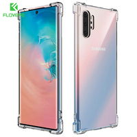 FLOVEME Shockproof TPU Cases For Samsung Galaxy Note 10 S8 S9 S10 Plus Case For Samsung Note 10 9 8 Transparent TPU Cover Coque