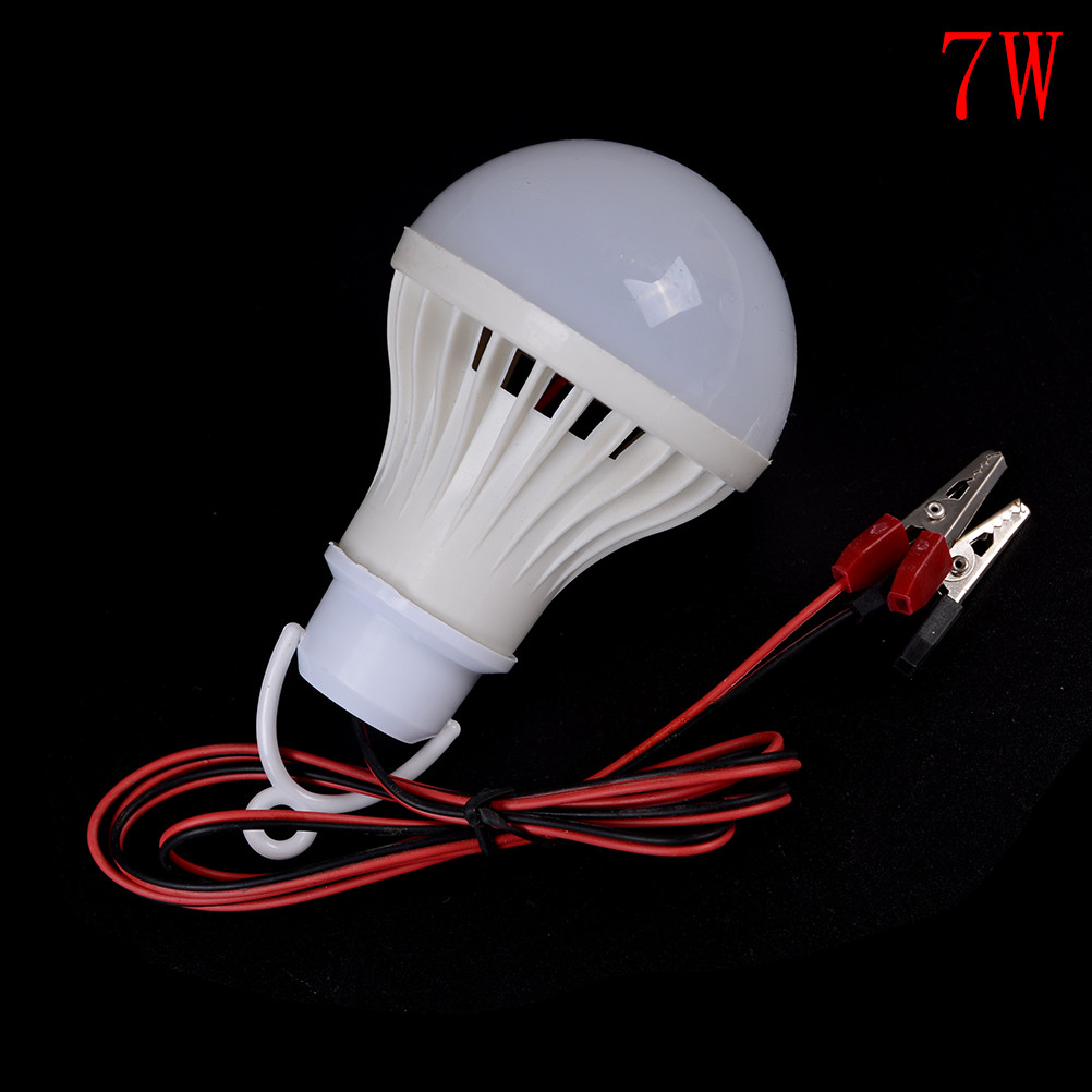 1pc Practical LED <font><b>Bulbs</b></font> 12V DC 3W <font><b>5W</b></font> 7W LED Lamp Home Camping Hunting Emergency Outdoor Light Lamp image