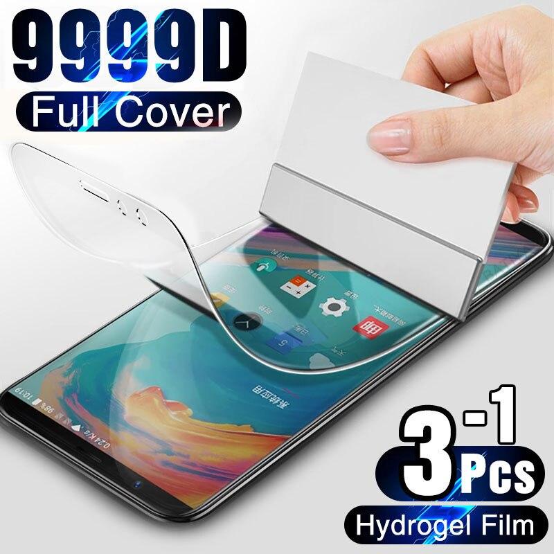 Гидрогелевая пленка на экран для OnePLus 7T 6T 5T 8T Pro, полное покрытие, мягкая защита экрана для OnePLus 7 6 5 8 Lite Nord